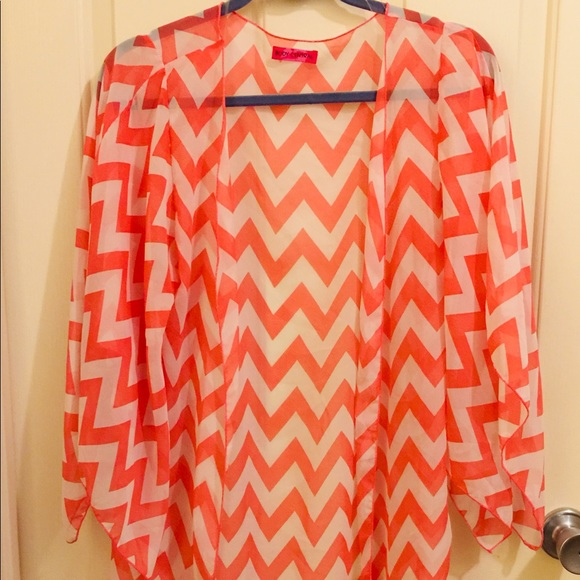 Body Central Other - Swimsuit cover body cover s m l chevron